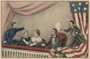 Currier & Ives lithograph of Lincoln assassination