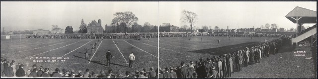 Scene at football game in early 1900s
