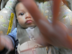baby peace sign