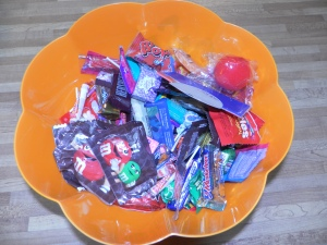 bowl full of candy
