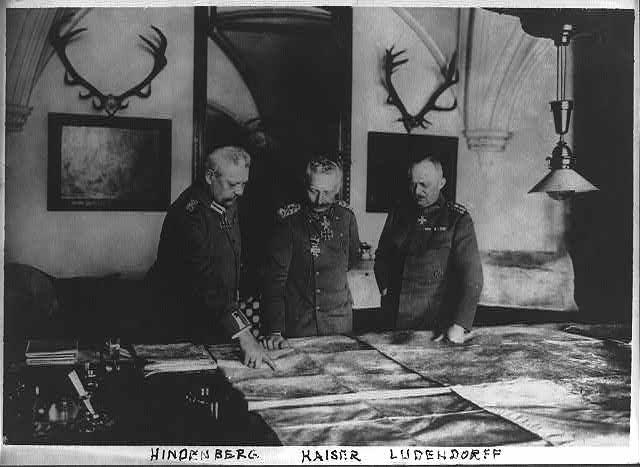 German generals looking at map