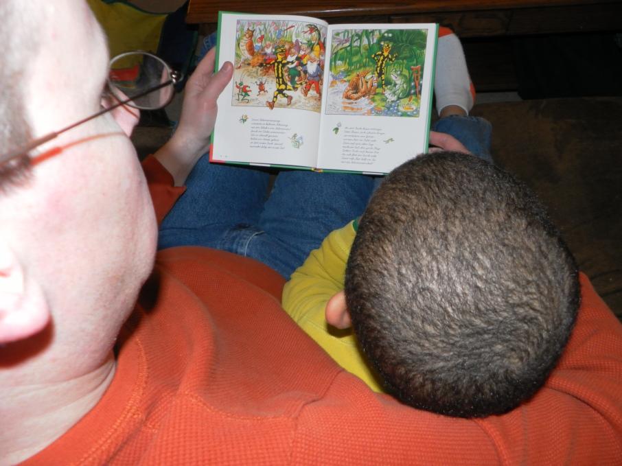 Reading German books
