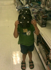 Vader in toy department