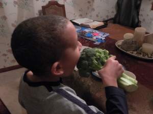 A little broccoli snack