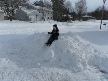 snowbank slide