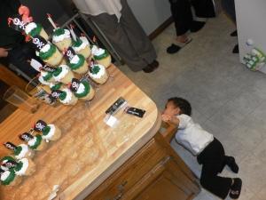 below the cupcakes