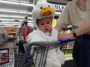 Crabby duck