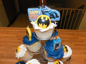 I am Batman cupcakes